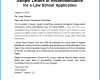 Law School Letter Of Recommendation Template