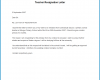 Teacher Resignation Letter Template