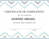 Free Printable Certificate Of Completion Template