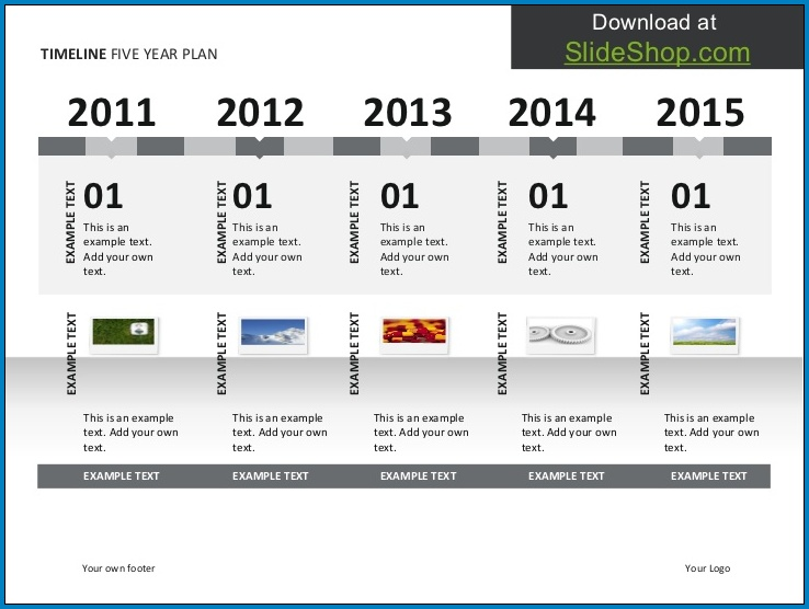 5 Year Plan Timeline Template Example