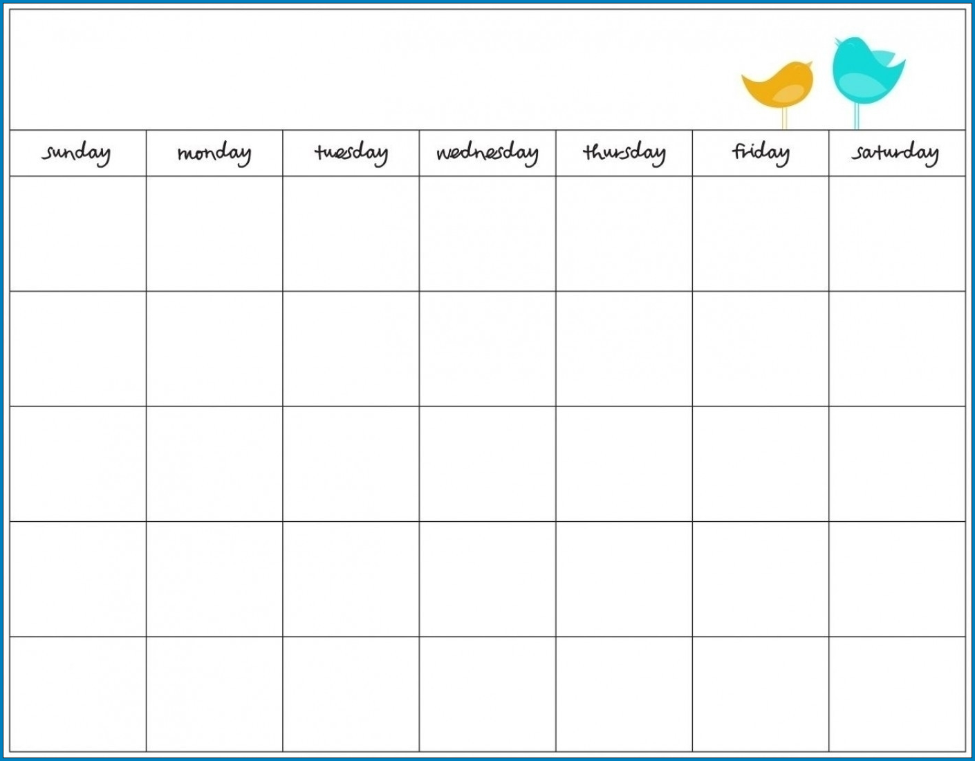 7 Day Schedule Template Example