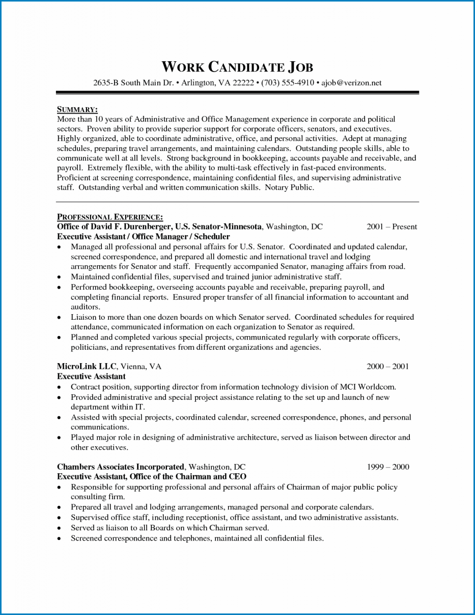 Administrative Assistant Resume Template Templateral