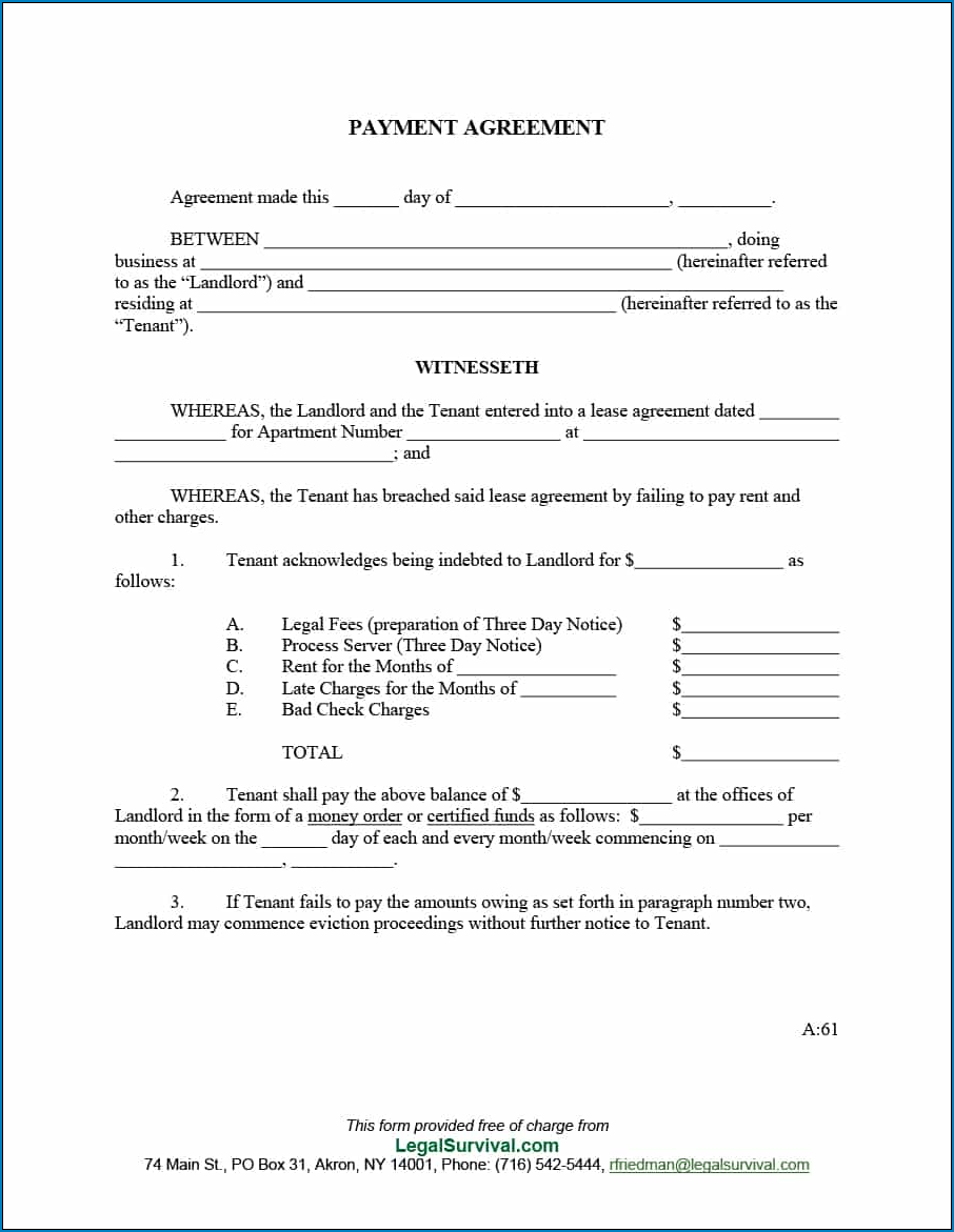 Agreement Between Two Parties For Money Example
