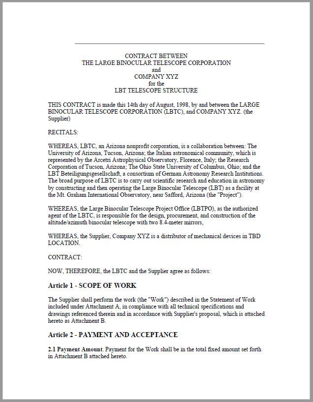 Free Printable Agreement Between Two Parties PDF
