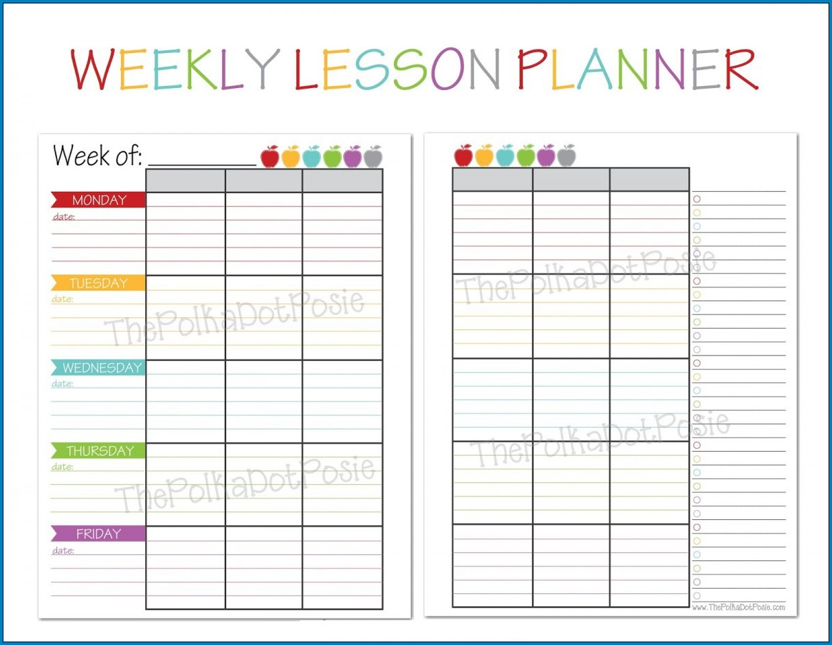 Best Weekly Planner Template Sample