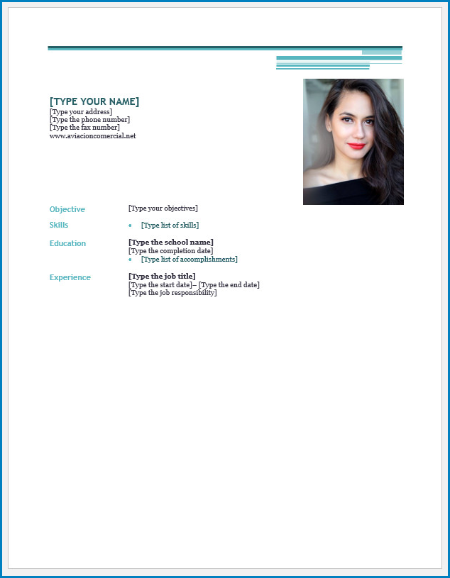 Free Printable Blank Resume Template