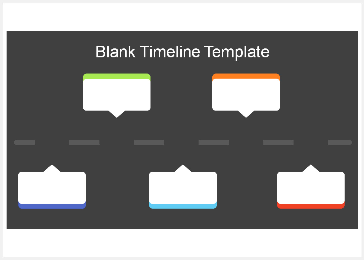 Free Customizable Blank Timeline Template