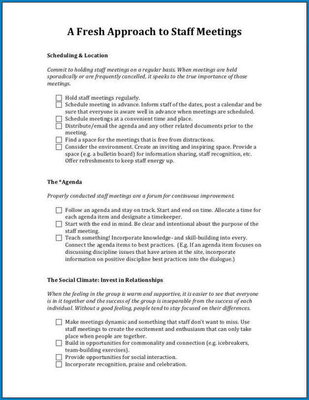 Board Meeting Minutes Template Example