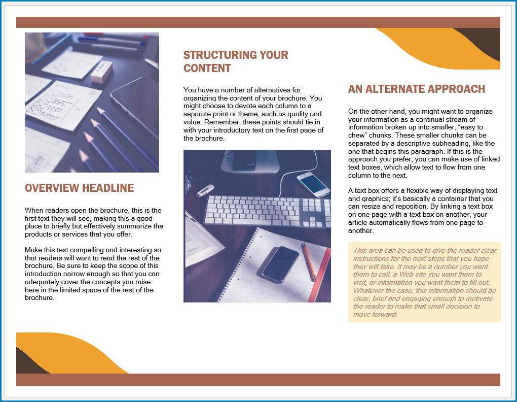 Free Printable Brochure Template Word