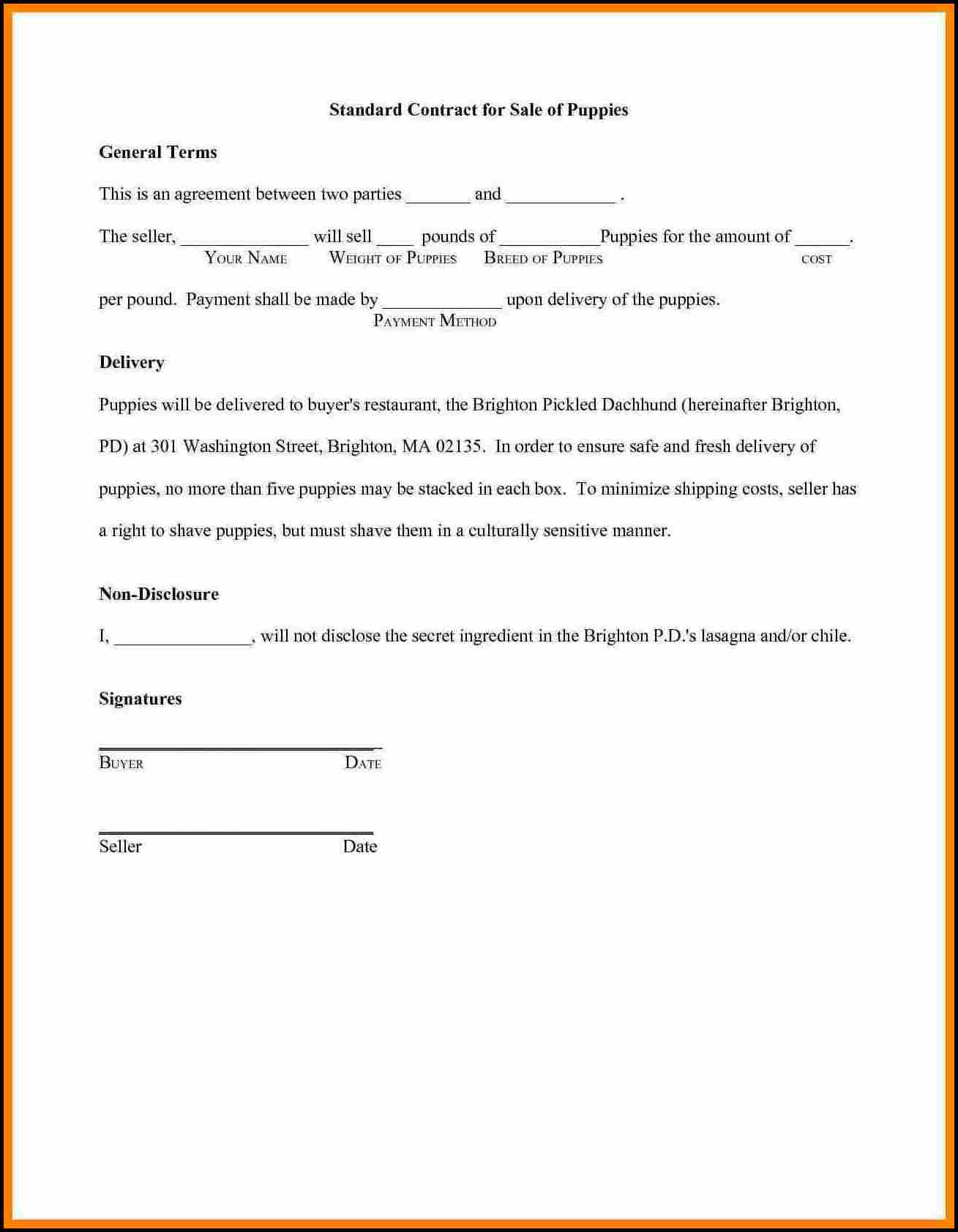 Business Agreement Between Two Parties Sample
