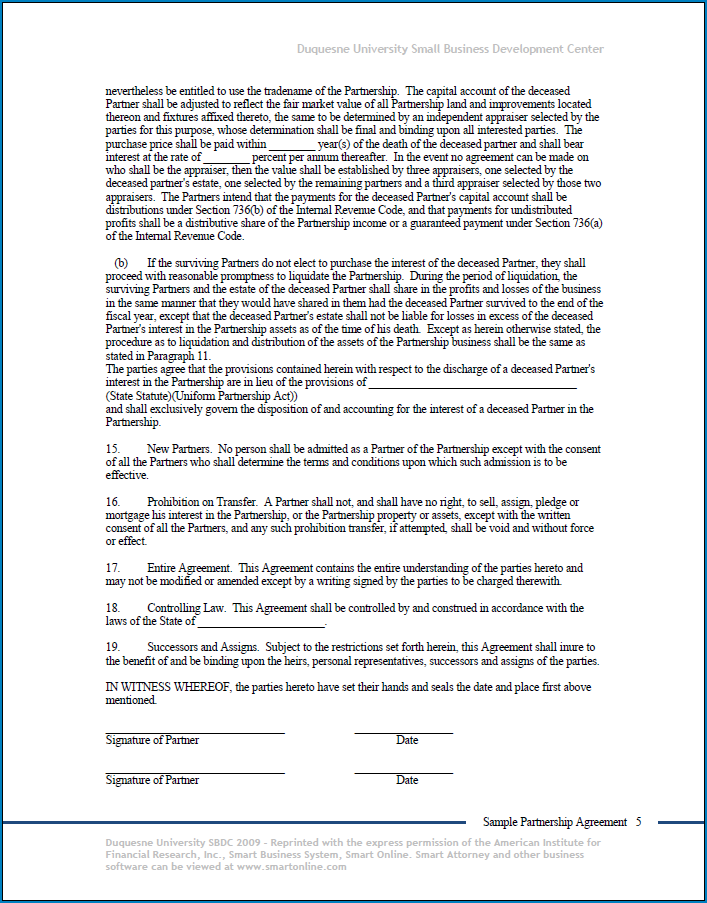 Free Business Agreement Between Two Parties