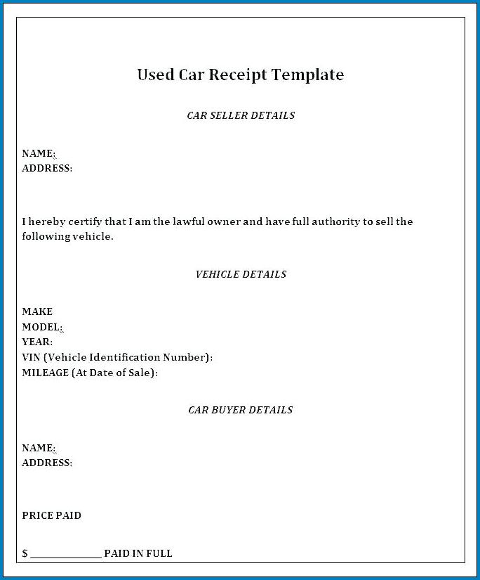 Car Payment Agreement Letter Template Sample