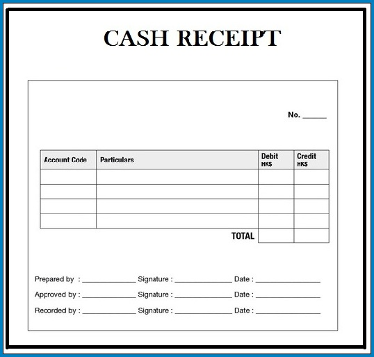 Free Printable Cash Receipt Template Word Templateral