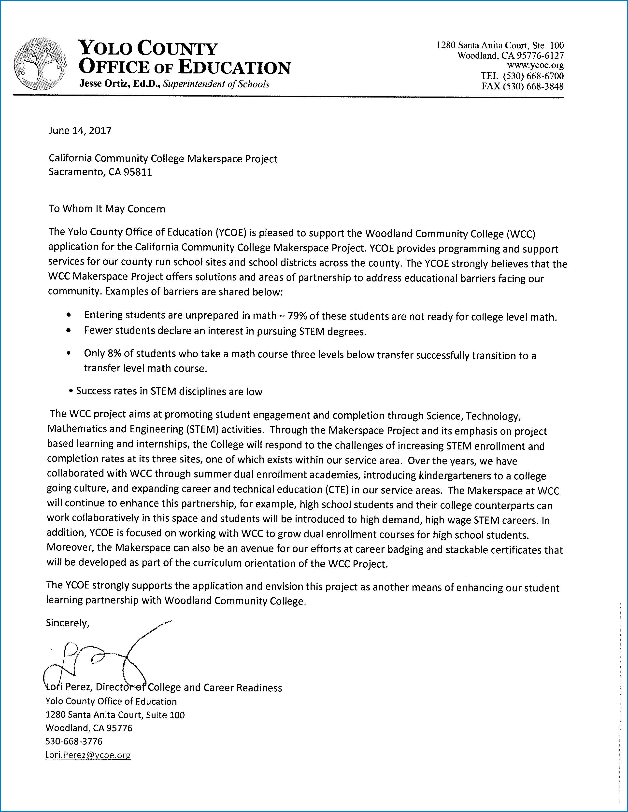 College Letter Of Interest Example