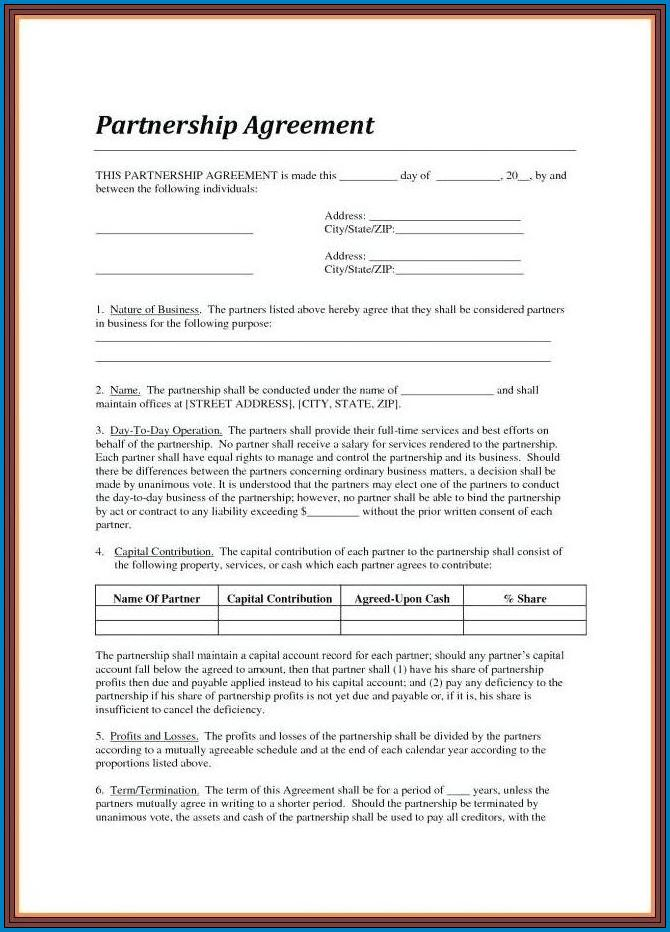 Contract Agreement Template Between Two Parties Example