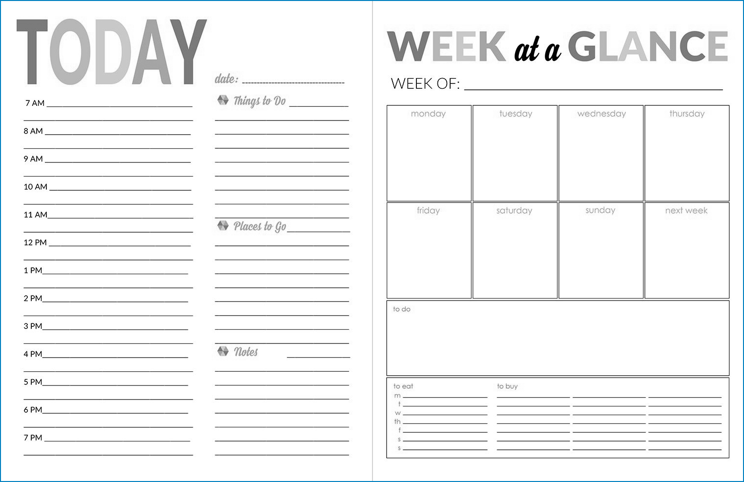 Daily Calendar Template Example