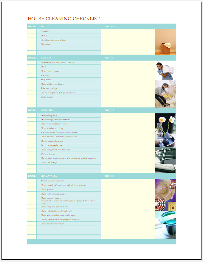 Free Printable Daily Checklist Template