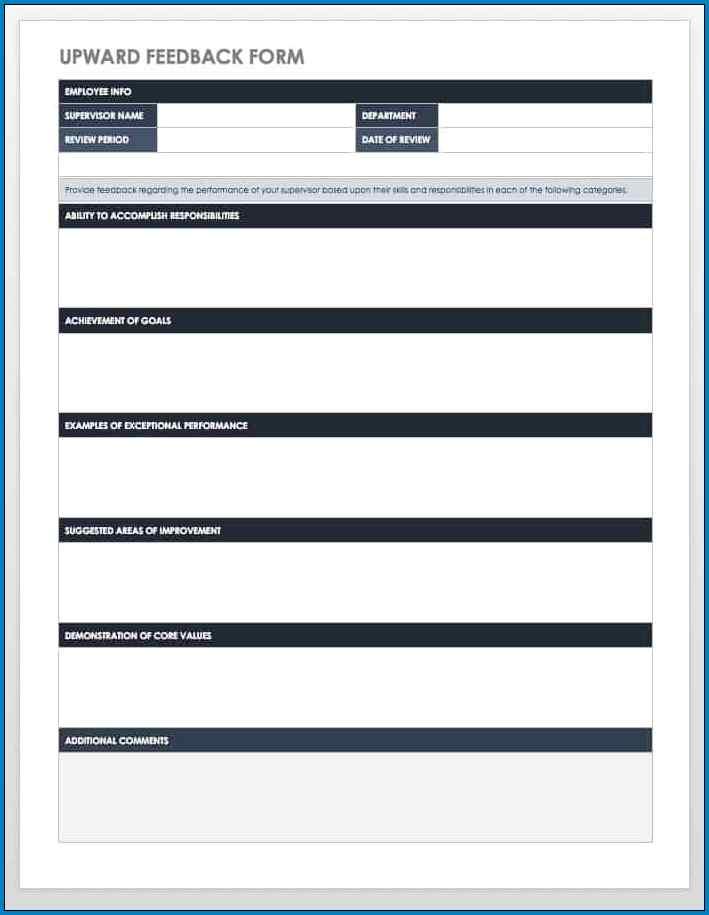 Employee Feedback Template Sample