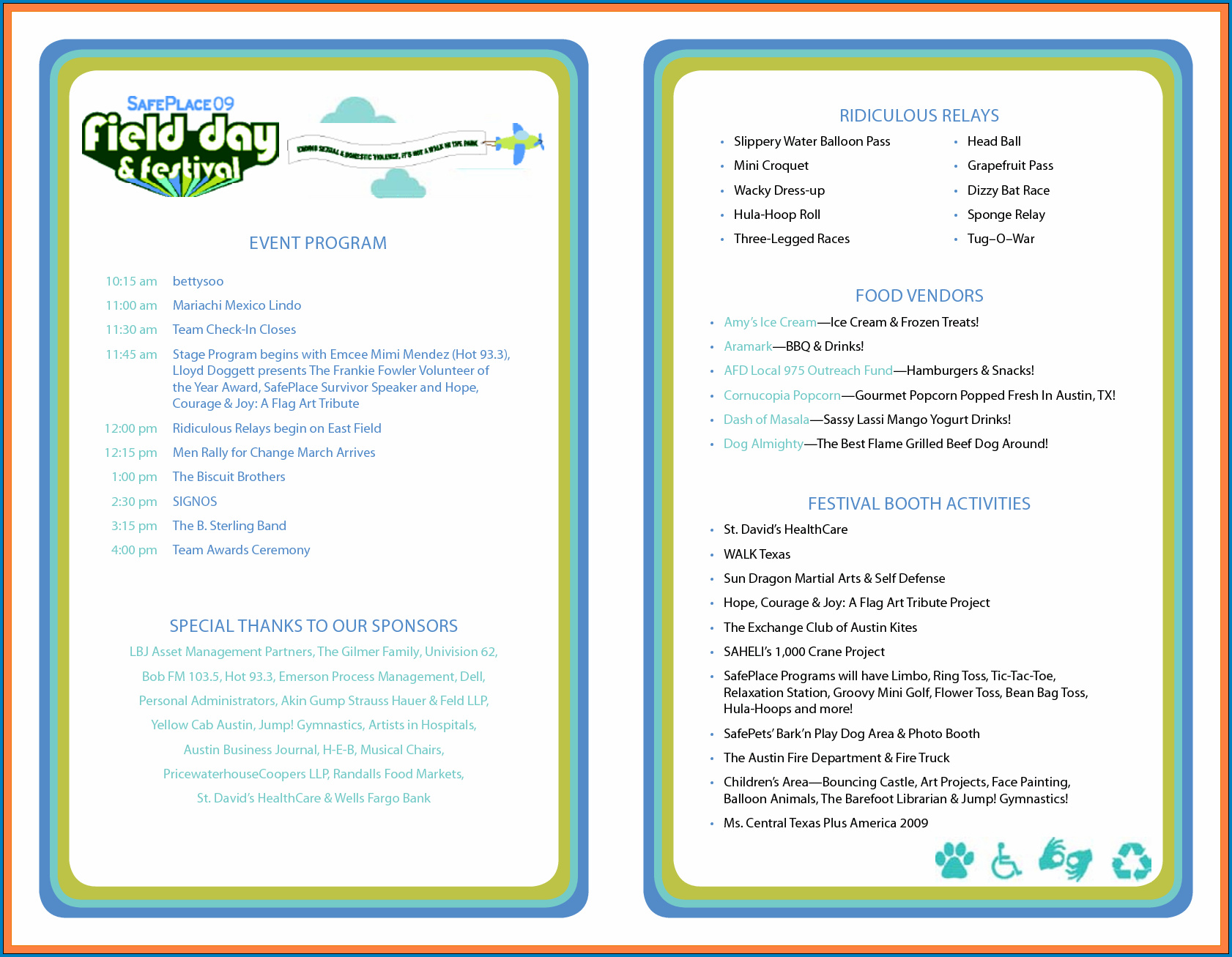 Event Program Template Sample