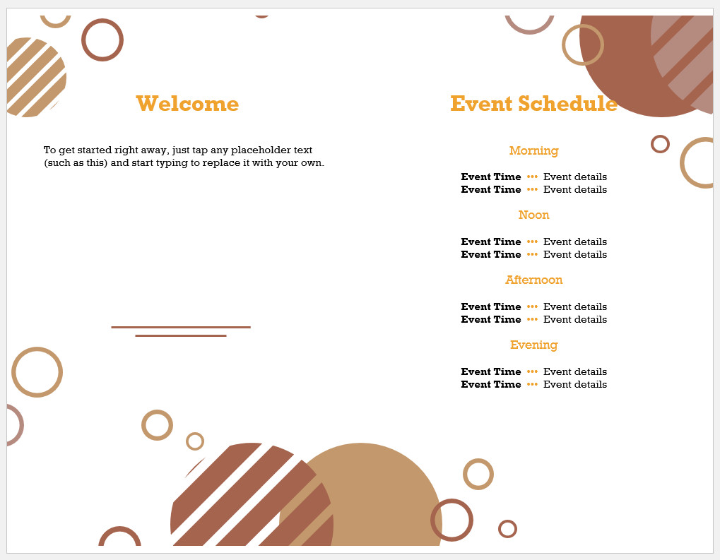 Free Printable Event Program Template