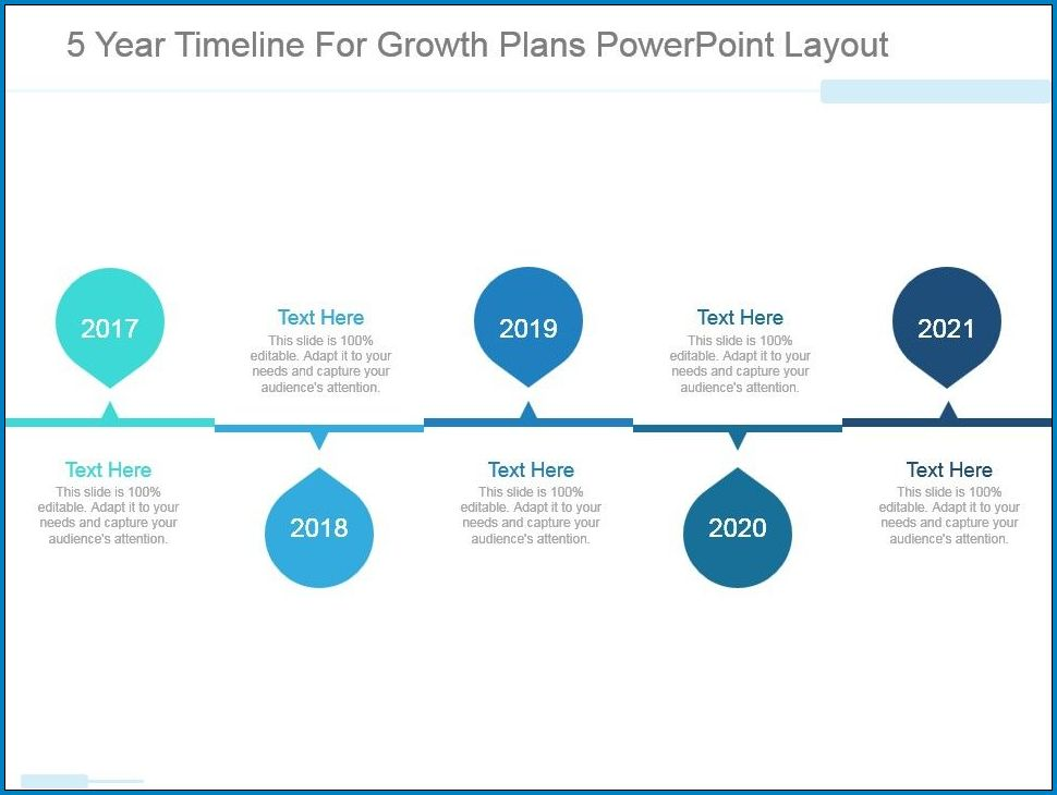 Example of 5 Year Plan Timeline Template