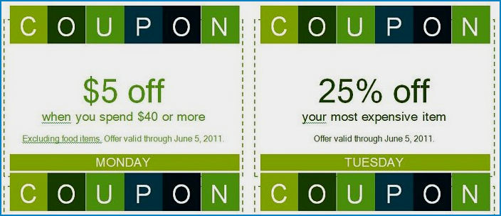 Example of Coupon Template Word