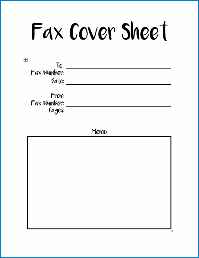 Example of Fax Cover Sheet Template