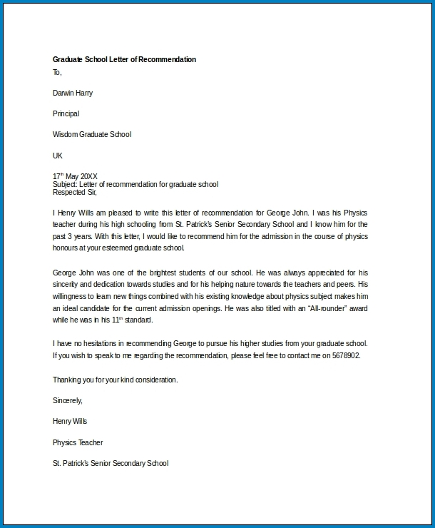Example of Letter Of Recommendation Dental School