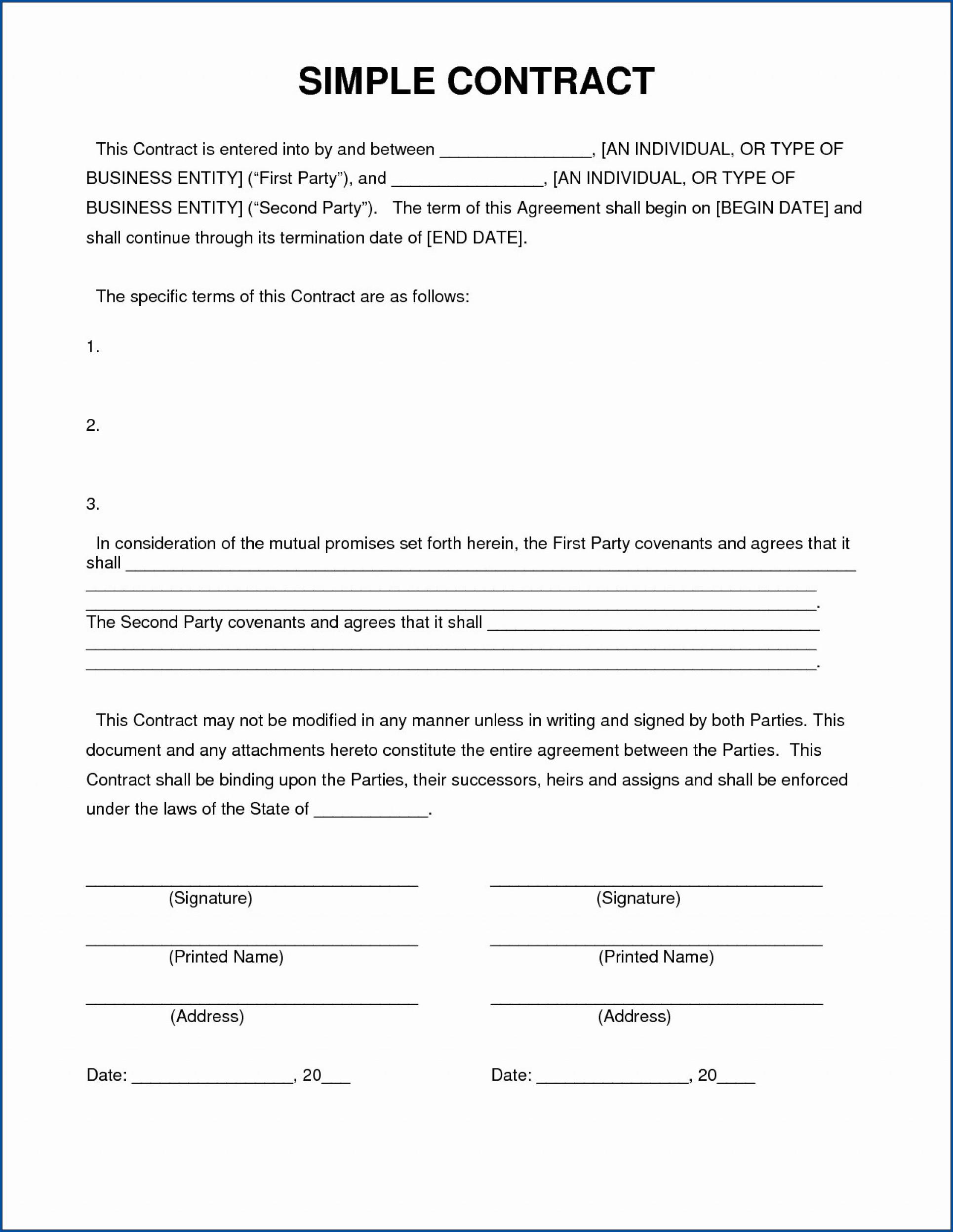 Example of Loan Contract Between Friends