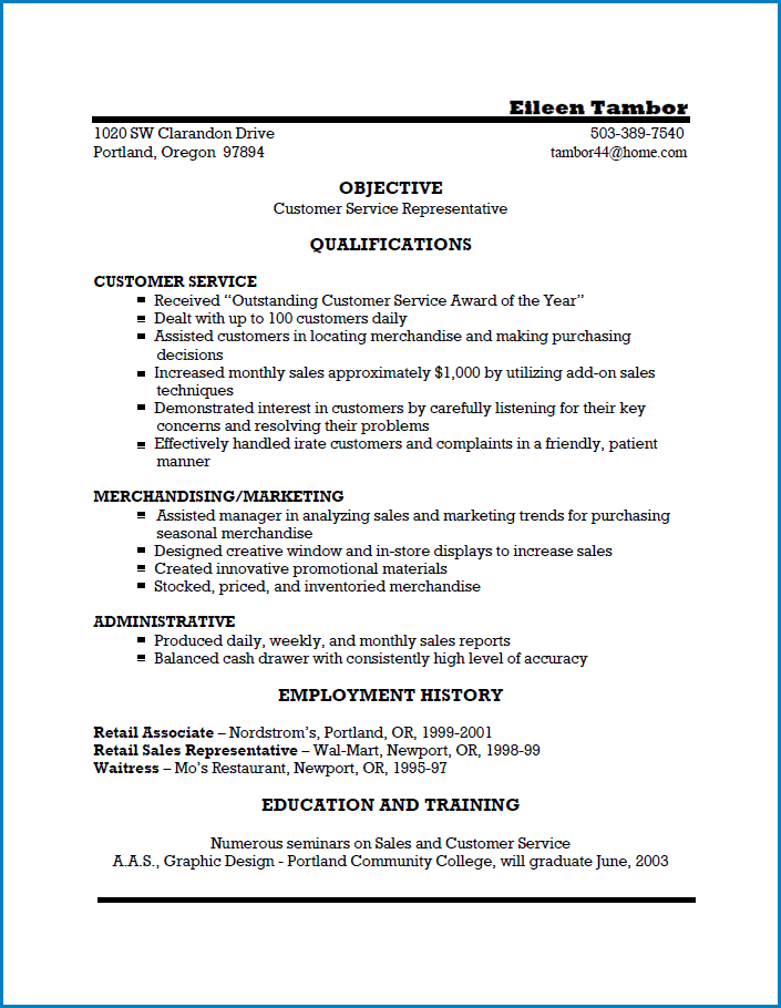 Example of Modern Resume Template