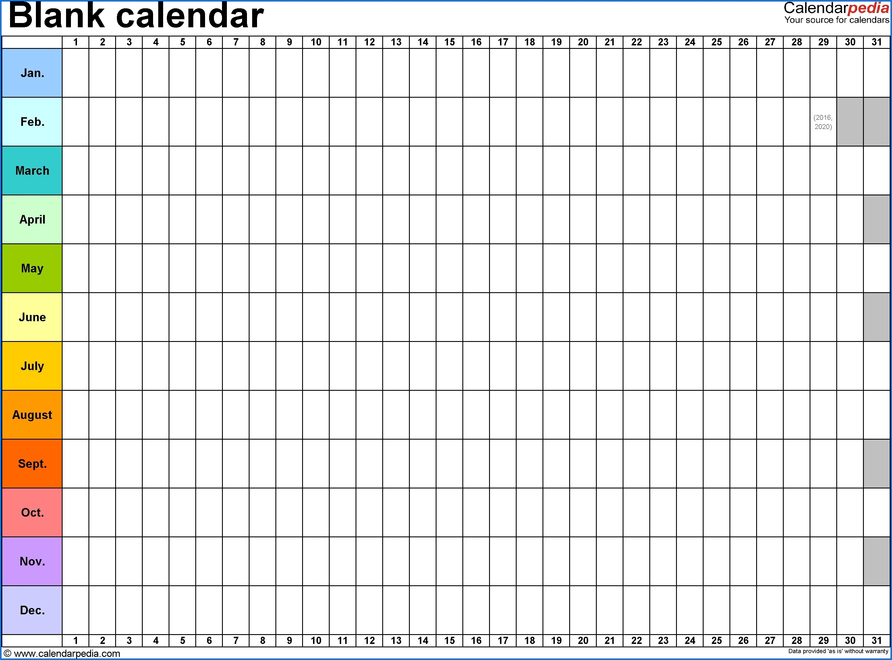 Example of Monthly Schedule Template
