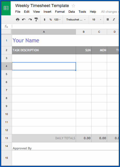 Free 4 Samples Of Monthly Timesheet Template Google Sheets Templateral