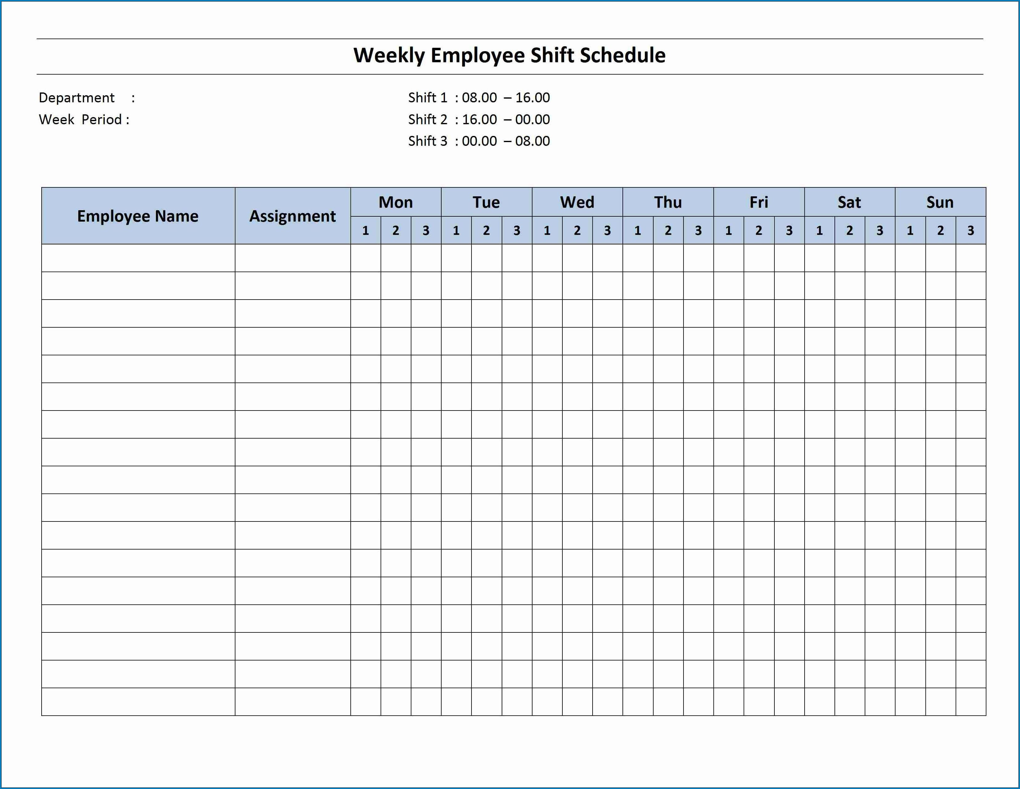 Free Editable Monthly Work Schedule Template Templateral