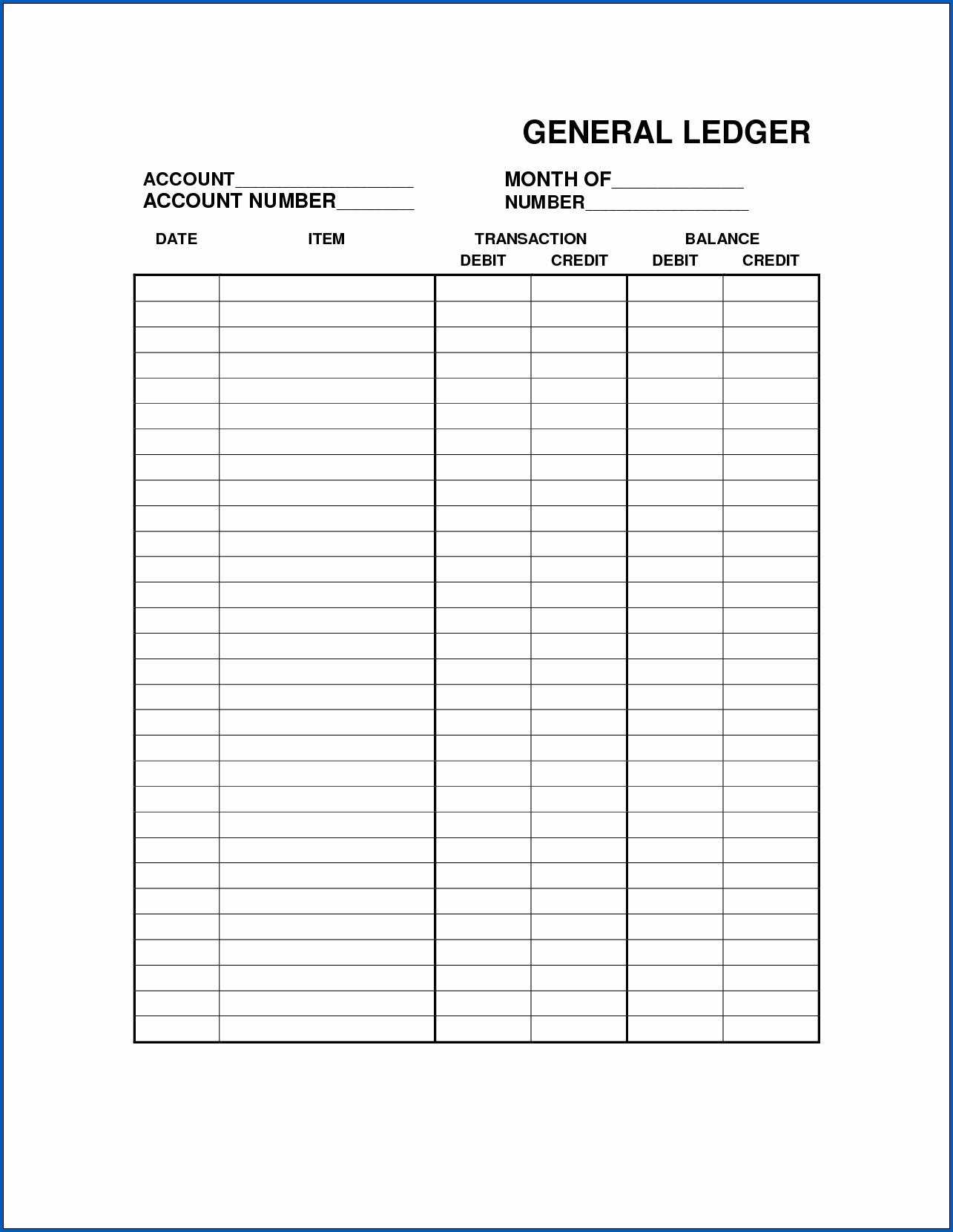 Example of Printable Balance Sheet