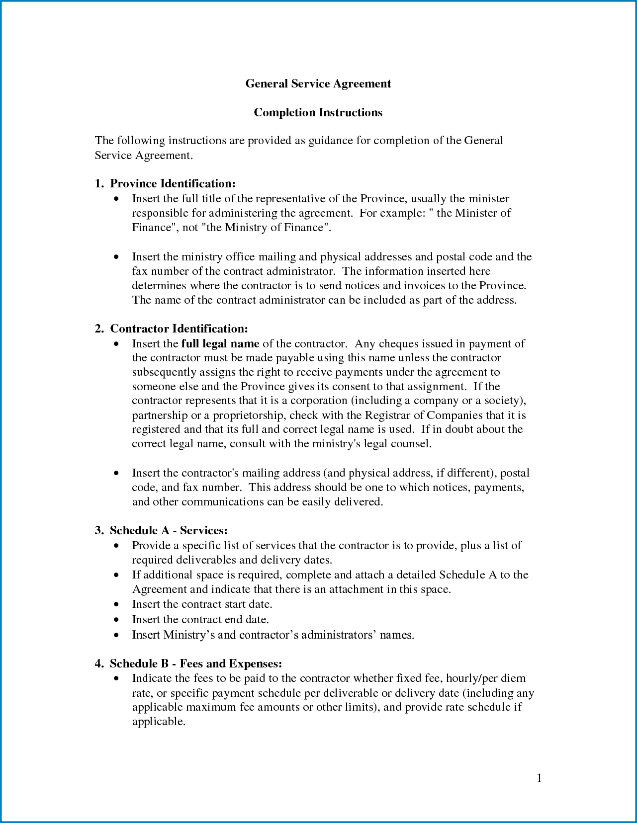 Free Printable Service Agreement Template | Templateral