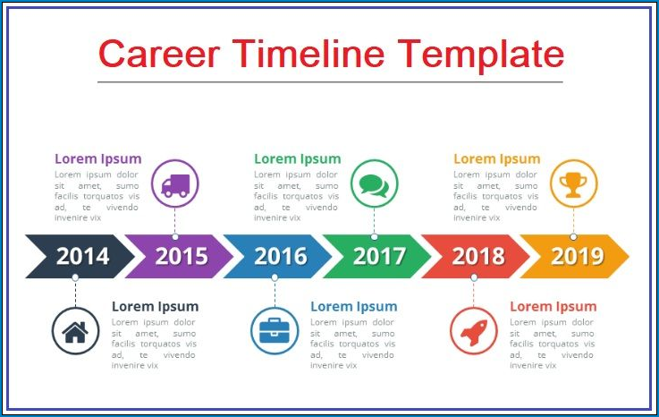 Example of Timeline Template For Word