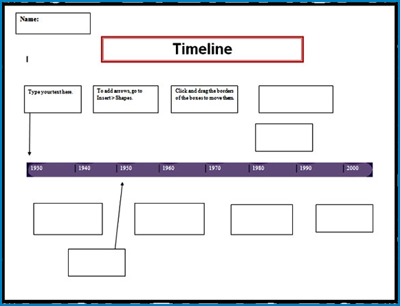 Example of Timeline Template Word