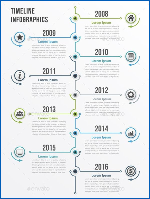 Example of Vertical Timeline Template