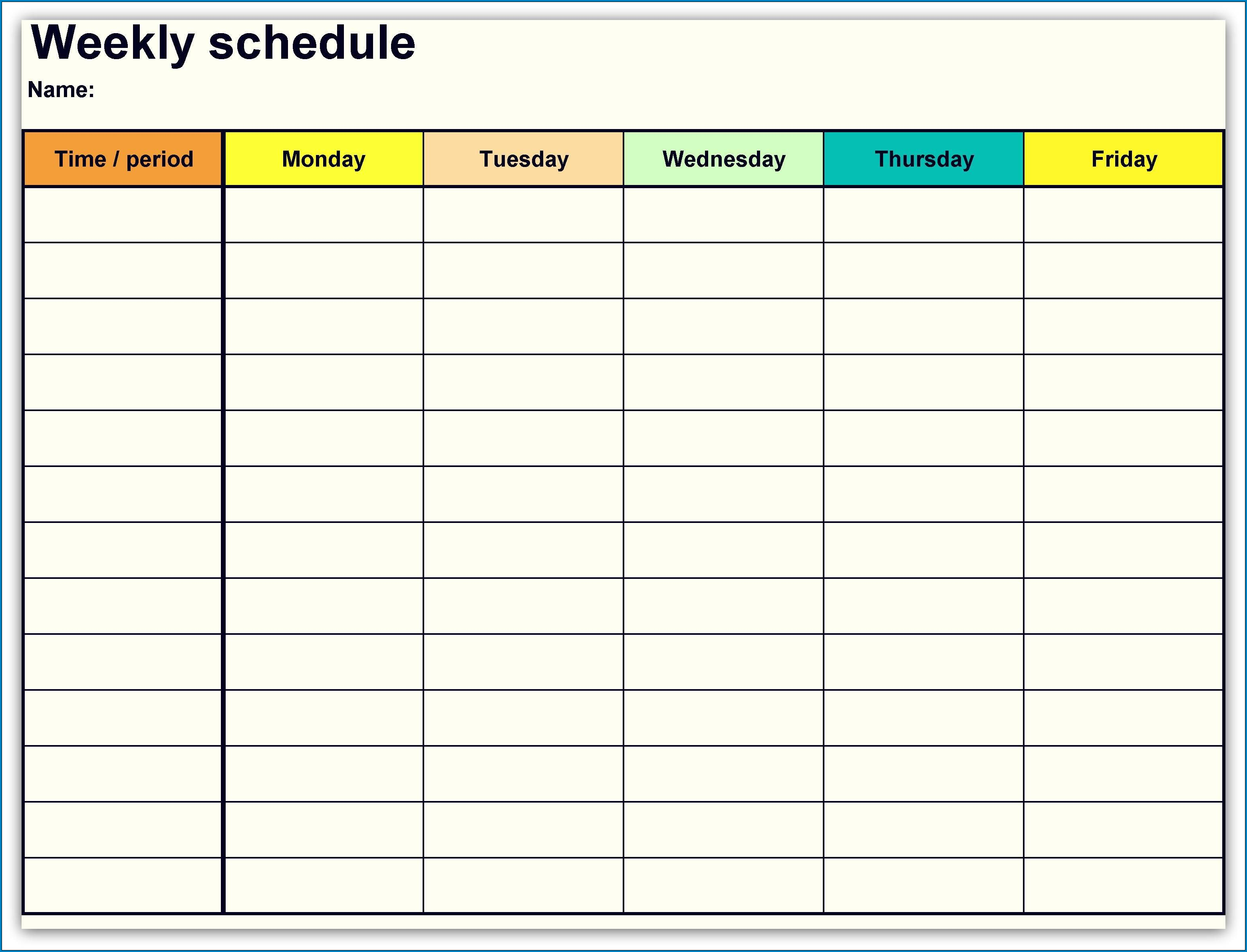 Weekly Scheduling Calendar Template from www.templateral.com