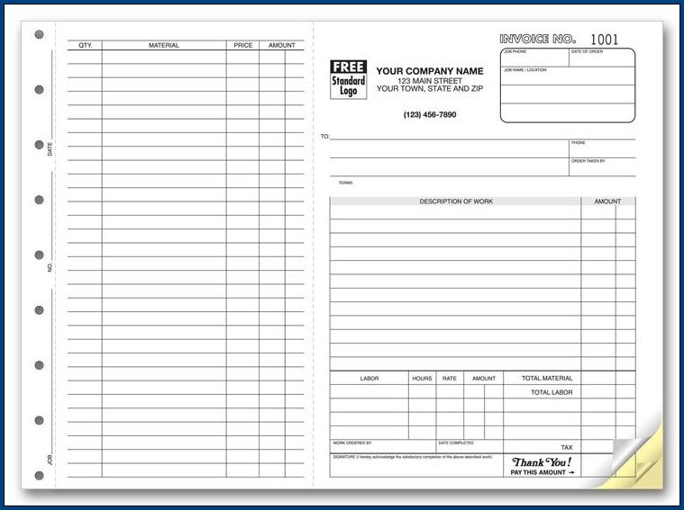 Example of Work Order Form Template