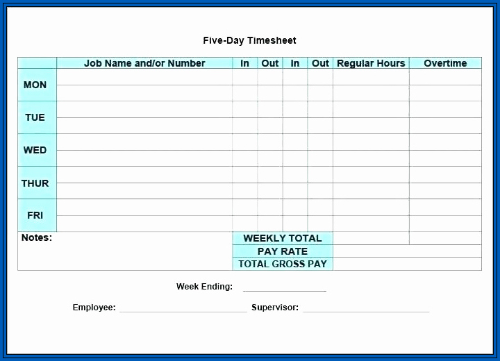 Excel Timesheet Formula With Lunch Break Example