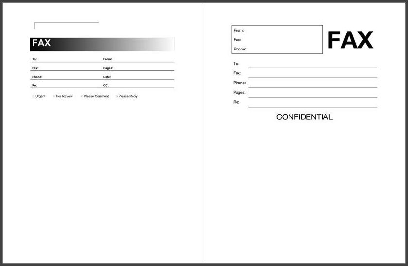 Fax Cover Sheet Word Template Sample