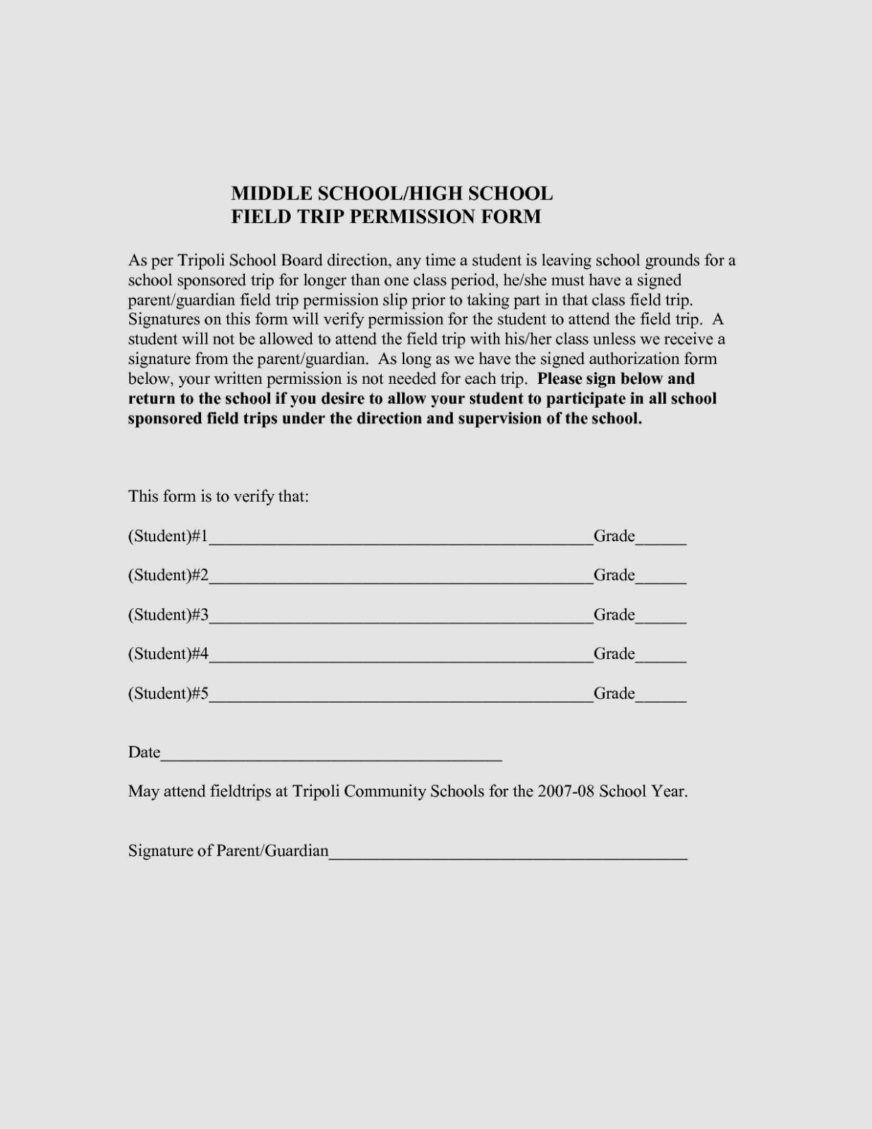 Field Trip Form Template from www.templateral.com