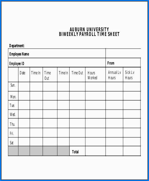 Free Payroll Template Example