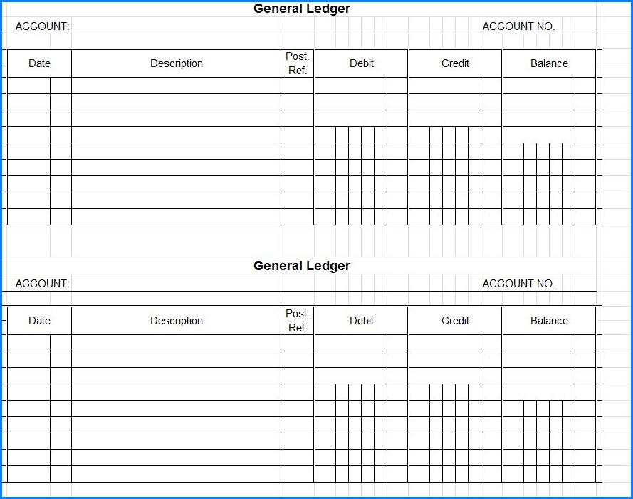 General Ledger Template Sample