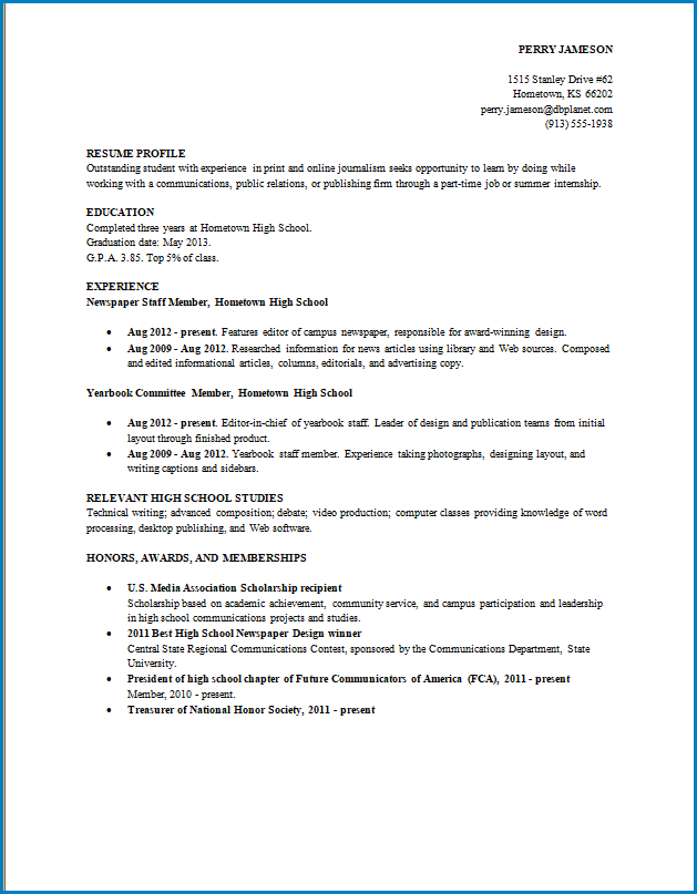 Free Graduate School Resume Template Templateral
