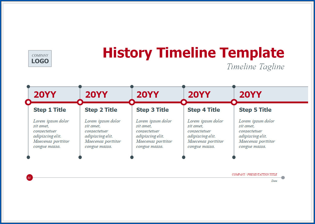 Free Customizable History Timeline Template