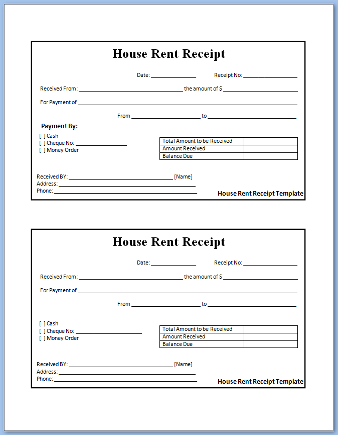 Free Rent Receipt Template Excel from www.templateral.com