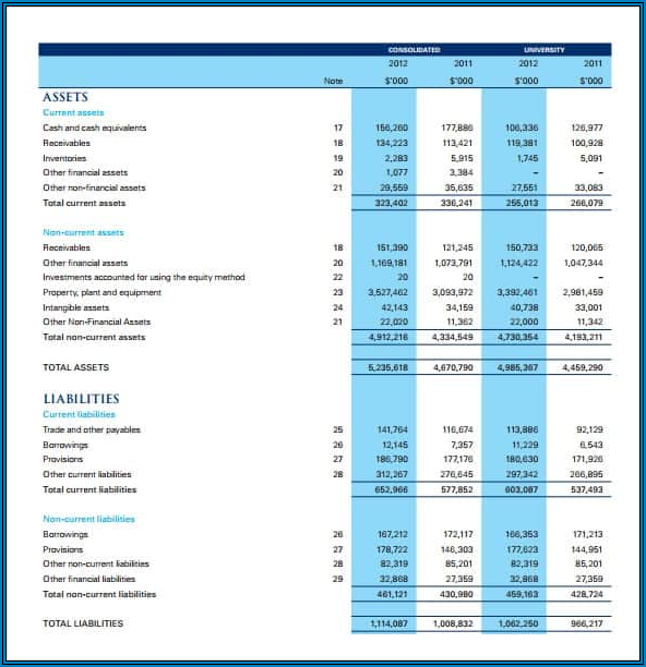 Income Statement Template Sample