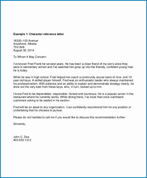 Letter Of Recommendation Request Template Sample